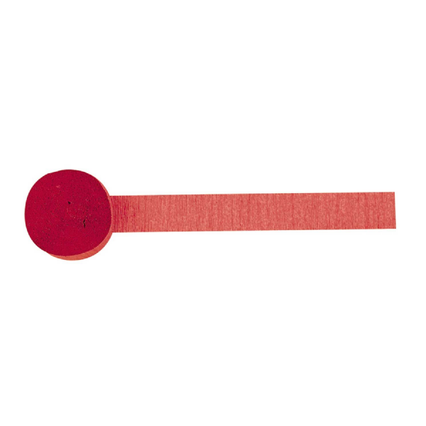 Apple Red Crepe Streamer